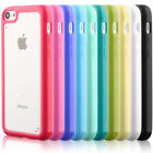 TPU BUMPER WITH CLEAR FROSTEDHARD BACK CASE FOR APPLE iPHONE 5C