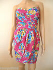New Lipsy Bandeau Pink Floral Wrap Skirt Dress Sz 14