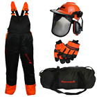 CHAINSAW SAFETY KIT BIB & BRACE TYPE A, GLOVES & HELMET IDEAL FOR ALL USERS
