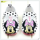 Toddler Baby Girls Minnie Soft Sole Black spots Crib Shoes Size 3-6 6-9 9-12 Mth
