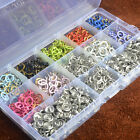 9.5mm Prong Ring Snap Fasteners Press Studs Poppers Buttons Dummy Clips Bibs AU