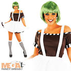 Sexy Factory Worker + Wig Ladies Fancy Dress Oompa Loompa Womens Costume Outfit