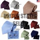 YAC1A08 Classic Mens Multi-colored Silk Necktie Wedding Gift 3PT By Y&G