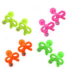 16G sweet candy color stainless steel bowknot ear stud earrings crystal Plugs