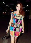 NEW Womens Colorful Sexy Casual Short Mini Evening Cocktail Party Tunic Dress