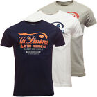 Mens Voi Jeans T Shirt 'Dallas' Navy Grey or White New S M L XL