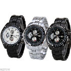 Waterproof Curren Chronometer Watch w/ Black Dial design Date Display Stainless