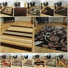 NEW Small Medium Extra Large Soft Thick Quality Rugs Chocolate Coffee Brown Mats
