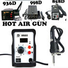 2in1 SMD HOT AIR REWORK SOLDERING IRON STATION TOOL 936 / 858D / 998D UK Plug