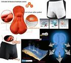 Black Style Cycling Underwear Gel 3D Padded MTB Bike/Bicycle Shorts/Pants M-3XL