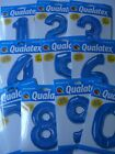 """LARGE 34"""" BLUE Qualatex Foil Balloons{ALL NUMBERS/AGES}"""