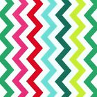 SHI SHI CHEVRON GARLAND - RAINBOW PRIMARY - MICHAEL MILLER COTTON FABRIC