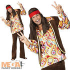Psychedelic 1960s Hippie Fancy Dress Mens Hippy Costume