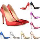 New Crocodile Pattern High Heels Stilettos Platform Pumps Shoes Size UK 2 - 9
