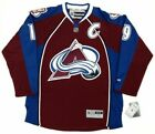 JOE SAKIC COLORADO AVALANCHE REEBOK PREMIER HOME JERSEY C NEW WITH TAGS