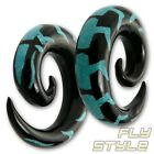 EXPANDER SPIRAL HORN TURQUOISE strecher taper pincher gauge plugs organic twists