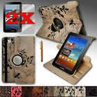 "For Samsung Galaxy Tab 2 7.0 or Tab 7.0 ""PLUS"" Rotating Leather Case Cover Stand"