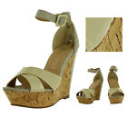 Very Volatile Pegasus Women's Wedge Ankle Strap Sandals Cork