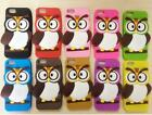 1 x Cute 3D OWL Silicon Back Case Skin Cover for iPhone 5 5s