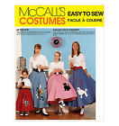Vintage SEWING PATTERN McCall's 7253 Girl's Retro SOCK HOP POODLE SKIRTS