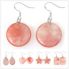 EH805 925 Silver Hook Natural Cherry Quartz Earrings