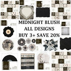 MIDNIGHT BLUSH Papermania Capsule Collection Full Range Papers + Embellishments