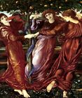 GARDEN OF THE HESPERIDES NYMPHS EARTHLY PARADISE PAINTING BY BURNE JONES REPRO