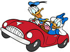 "6.5-10.5""  DISNEY DONALD DAISY DUCK CAR  WALL SAFE STICKER CHARACTER BORDER CUT"