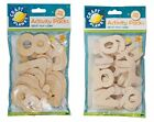 Packs LETTERS/NUMBERS NATURAL WOODEN CUT OUT SHAPES Craft Planet Embellishments!