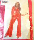 Burnin' Up Devil Girl Adult Costume Top Pants 8-10 10-12 NIP