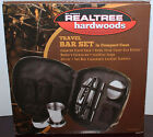 5 pc Bill Jordan Realtree Hardwoods Travel Bar Set With Camo Case **