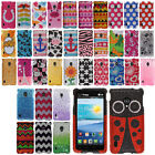 For LG Lucid 2 VS870 Image DIAMOND BLING Crystal Hard Case Phone Cover Accessory