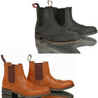 MENS CASUAL LEATHER SLIP PULL ON CHELSEA DEALER BROGUE TAN ANKLE WORK BOOTS SIZE