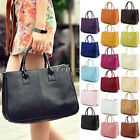 New Womens Ladies Girls PU Leather Tote Boho Handbag Shoulder Bag