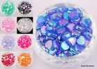 Wholesale 60pc AB Color Heart Shaped Acrylic Spacer Beads for Jewelry Making 9mm
