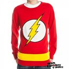 The Flash Symbol Logo DC Comics Licensed Red Knit Adult Sweater S-XXL