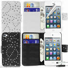 Diamond Bling Sparkly Gem Flip Case Accessory For Apple iPod Touch 4 4G 4th Gen