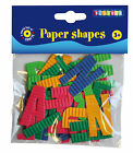 Playbox Paper Shapes 180 Letters Assorted Colours Crafts NEW