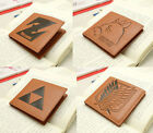 The Legend of Zelda Dragon Ball Z Totoro Attack on Titan Leather Wallets Purses