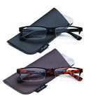 New Mens Women Black Brown Half Frame Reading Glasses Classic Fashionable Style