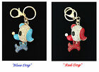 Cute Dog Crystal Car Key Chain Charm Pendant Handbag accessory Red /Blue