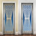 """Lace Door Curtain, Net Curtains, Includes Tie Back, 45"""" x 72"""", Cream White"""