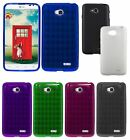 For LG L70 DUAL Cover TPU Gel Gelly Soft Rubber Skin Fitted Colorful Candy Case