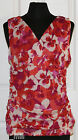 ~ELLE~Woman's Red/White Floral Sleeveless Stretch Top~SIZE XS,S~NWT