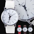 New Men's/Women's Analog Quartz White Red Synthetic Leather Band Wrist Watch