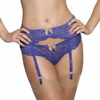 NEW LUXURY SAPPHIRE LACE SUSPENDER BELT UK XS/S/M/L/XL rrp £28