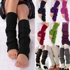 Women Ladies Winter Warm Leg Warmers Cable Knit Knitted Crochet Socks Leggings