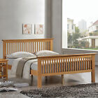 New - Harmony Beds Buckingham Wooden Bed Frame - Oak or White Finish - 4ft6/5ft