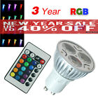1 4 6 X GU10 4W 16 Color RGB Changing Lamp Light Remote Control LED Bulb  UK