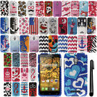 For Alcatel One Touch Fierce 7024W DIAMOND BLING HARD Case Phone Cover + Pen